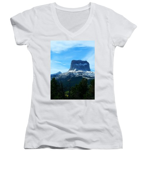 Frosty Chief Mountain Women's V-Neck T-Shirt