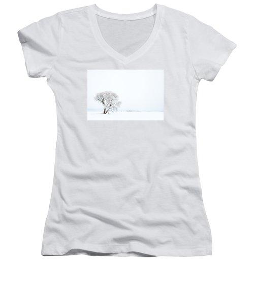 Frozen Morning Women's V-Neck T-Shirt