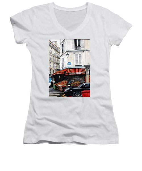 Fruits Et Legumes Women's V-Neck T-Shirt