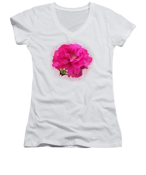 Full Blown Women's V-Neck T-Shirt