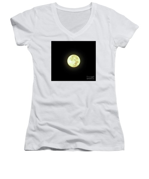 Full Moon August 2014 Women's V-Neck (Athletic Fit)