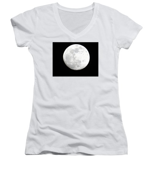 Full Moon Women's V-Neck (Athletic Fit)