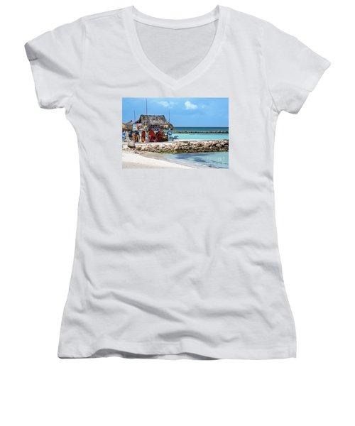 Fun In The Sun Women's V-Neck T-Shirt