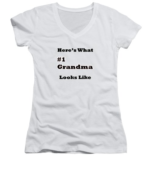 Funny Grandma Saying Women's V-Neck (Athletic Fit)
