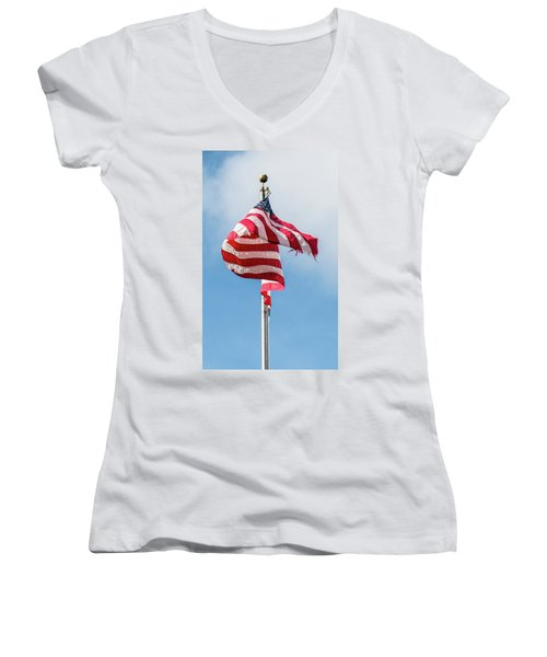 Furled In The Wind Women's V-Neck