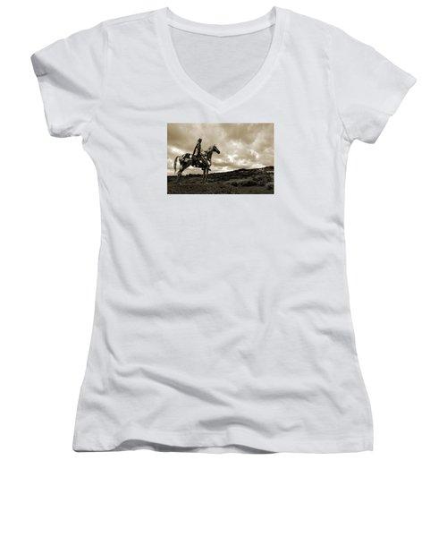 Gaelic Chieftain. Women's V-Neck T-Shirt