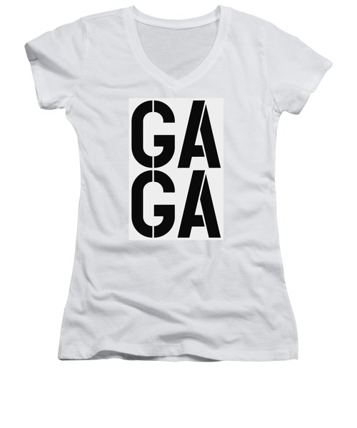 Gaga Women's V-Neck T-Shirt (Junior Cut) by Three Dots