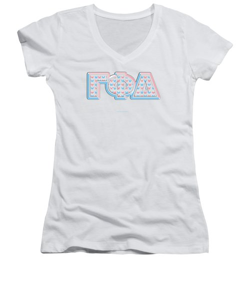 Gamma Phi Delta Greek Women's V-Neck