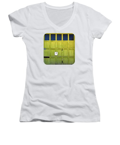Garage Door Women's V-Neck T-Shirt