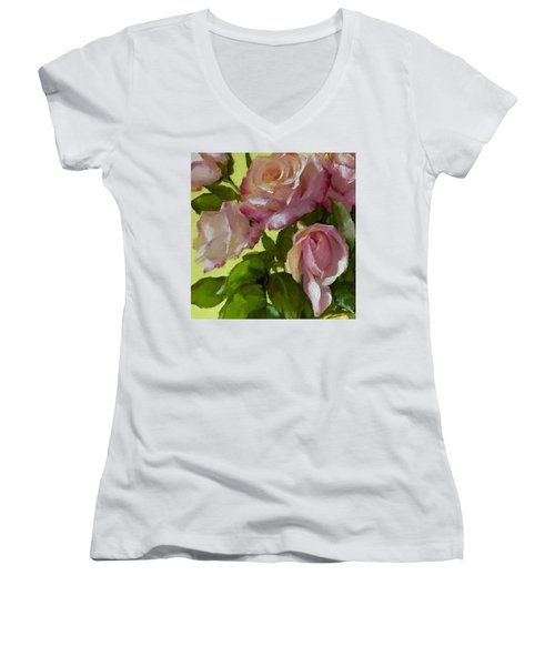 Garden Elegance Detail Image Women's V-Neck (Athletic Fit)