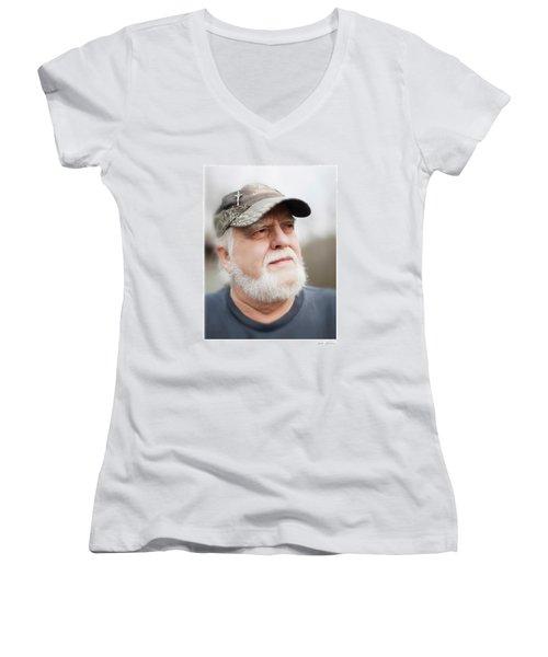 Gary Women's V-Neck T-Shirt (Junior Cut) by Glenn Gemmell