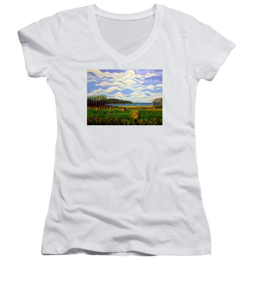 Gaspe's Grand Serenousphere Women's V-Neck (Athletic Fit)