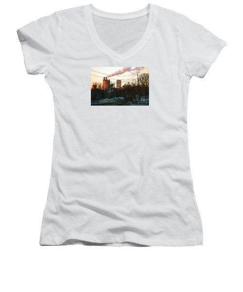 Gate 4 Women's V-Neck T-Shirt (Junior Cut) by David Blank