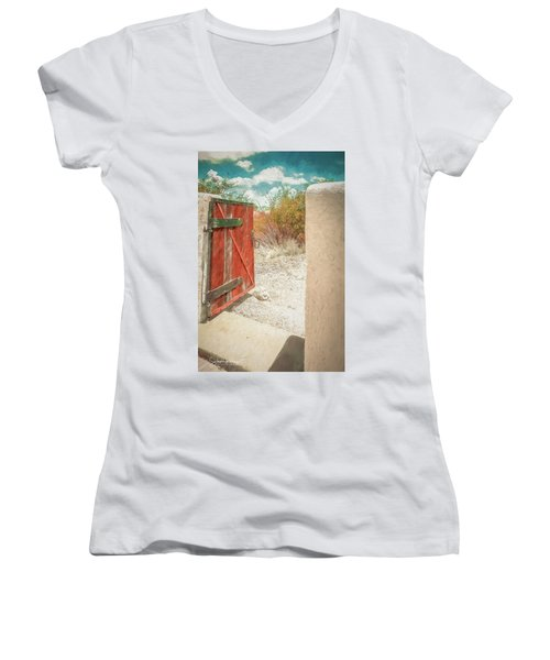Gate To Oracle Women's V-Neck (Athletic Fit)