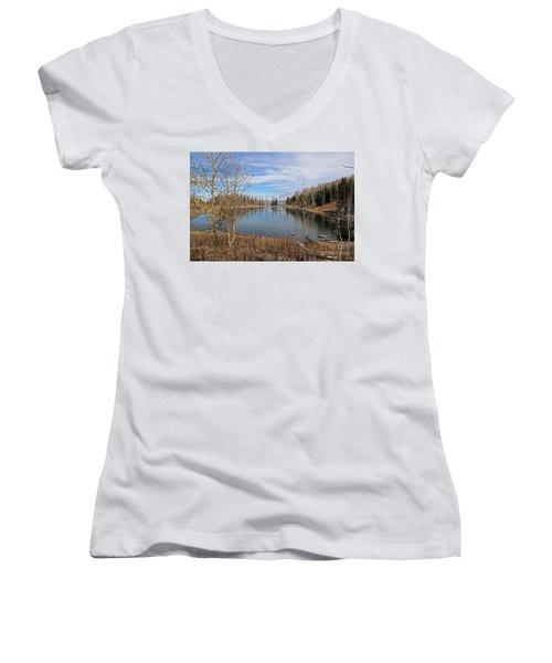 Gates Lake Women's V-Neck T-Shirt