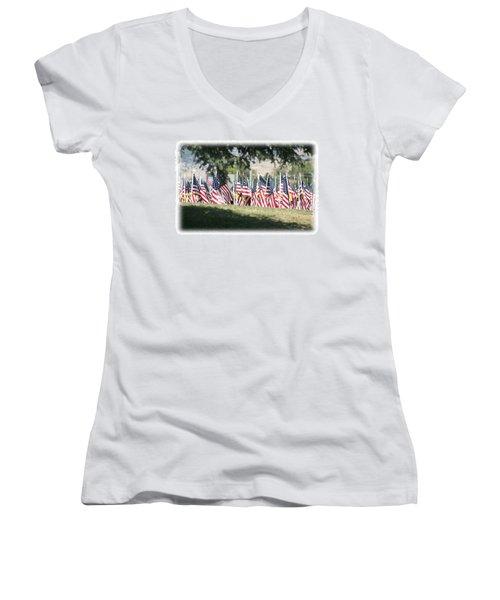 Gathering Of The Guard - 2009 Women's V-Neck T-Shirt (Junior Cut) by Gary Baird