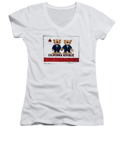 Gay Marriage In California Women's V-Neck