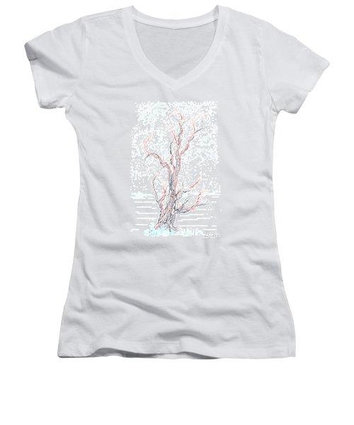 Genetic Branches Women's V-Neck T-Shirt