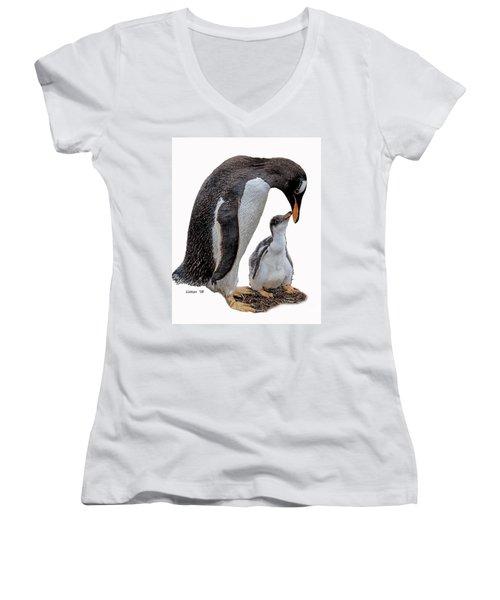 Gentoo Penguins Women's V-Neck (Athletic Fit)