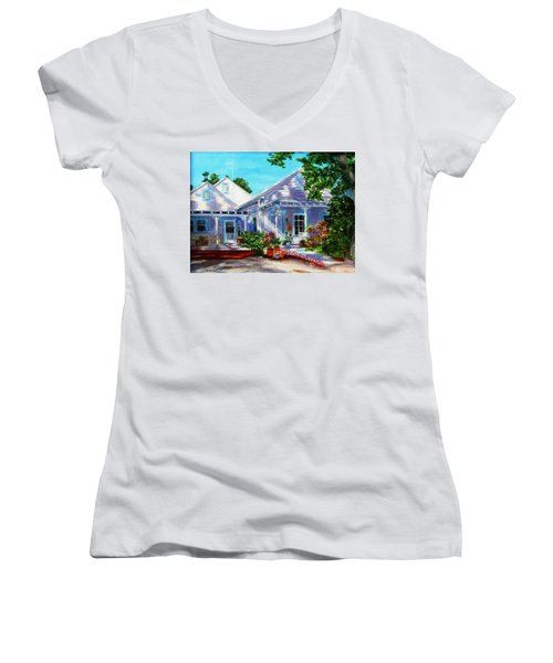Georgia Street, Key West Women's V-Neck (Athletic Fit)