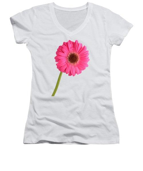Women's V-Neck T-Shirt (Junior Cut) featuring the photograph Gerbera by George Atsametakis