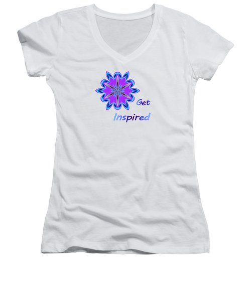 Get Inspired Women's V-Neck (Athletic Fit)
