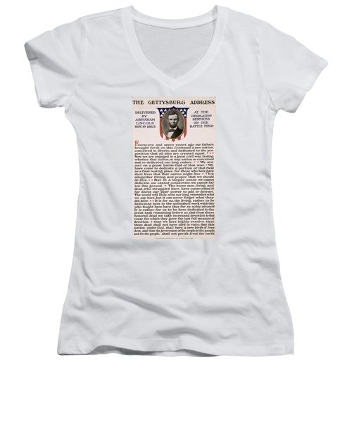 Gettysburg Address Women's V-Neck (Athletic Fit)