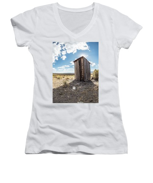 Ghost Town Outhouse Women's V-Neck