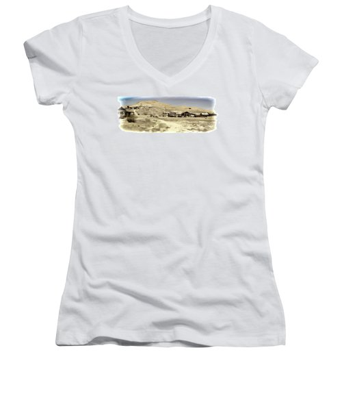 Ghost Town Textured Women's V-Neck