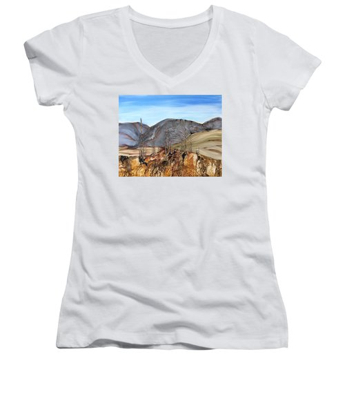 Ghost Valley Women's V-Neck (Athletic Fit)