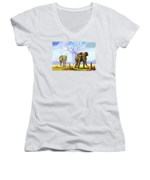 Giants And Little People Women's V-Neck