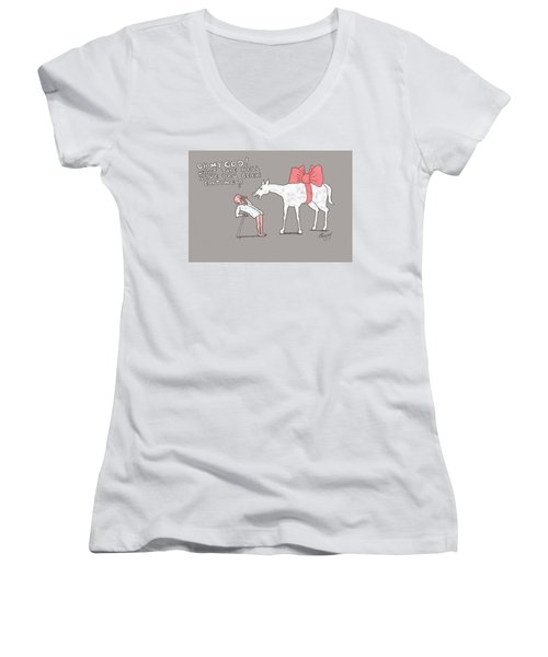 Gift Horse Women's V-Neck (Athletic Fit)