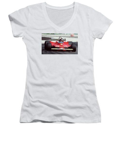 Gilles Villeneuve, Ferrari Legend - 01 Women's V-Neck