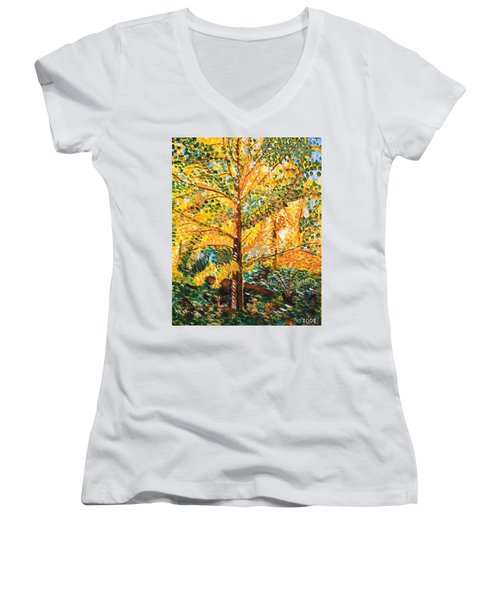 Gingko Tree Women's V-Neck T-Shirt