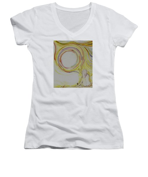 Girl And Universe Creative Connection Women's V-Neck