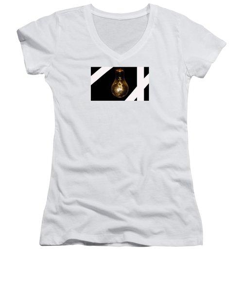Glass Light Art Women's V-Neck T-Shirt