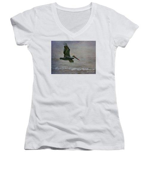 Gliding  Women's V-Neck T-Shirt