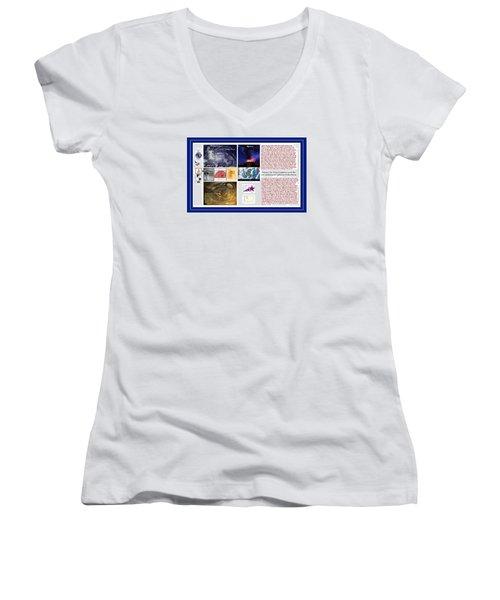 Glimpsing Divinity Women's V-Neck T-Shirt (Junior Cut) by Peter Hedding