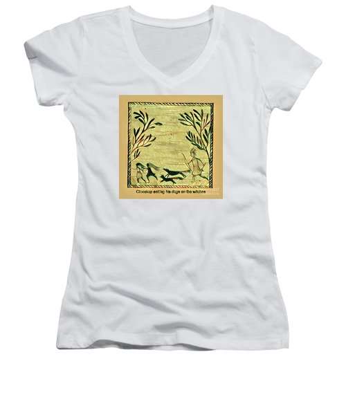 Glooscap And The Witches Women's V-Neck