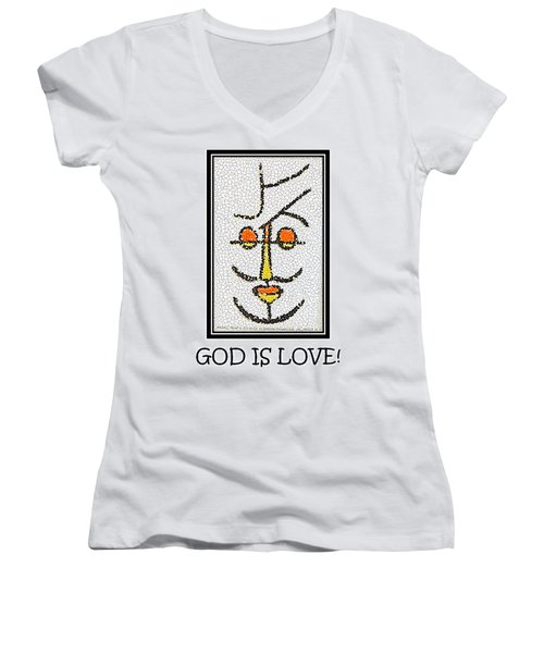 God Is Love Women's V-Neck T-Shirt