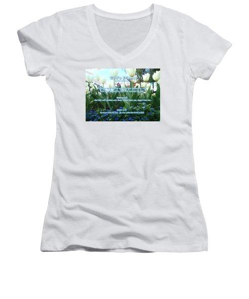 Gods Friend Women's V-Neck T-Shirt