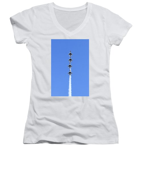Going Vertical  Women's V-Neck T-Shirt