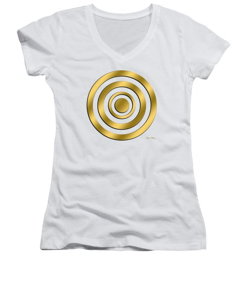 Gold Circles Women's V-Neck (Athletic Fit)