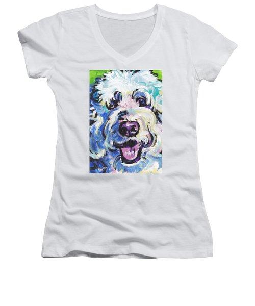 Golden Doodly Dee Women's V-Neck T-Shirt