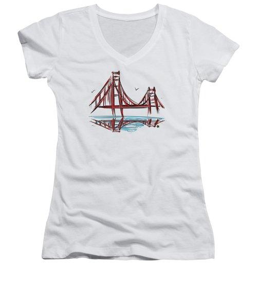 Golden Gate Bridge Women's V-Neck T-Shirt