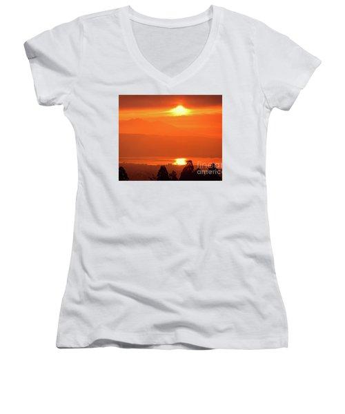 Golden Hour Women's V-Neck T-Shirt