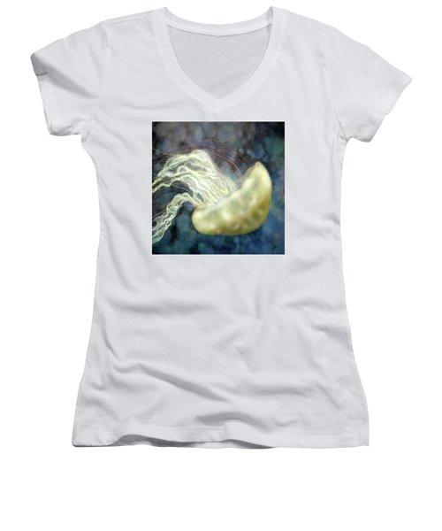 Golden Light Jellyfish Women's V-Neck
