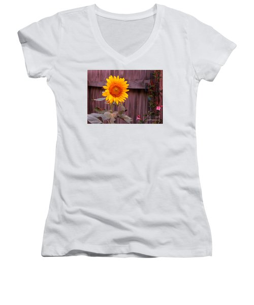 Golden Sunflower Women's V-Neck (Athletic Fit)