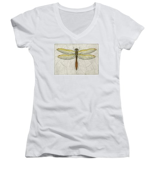 Golden Winged Skimmer Women's V-Neck