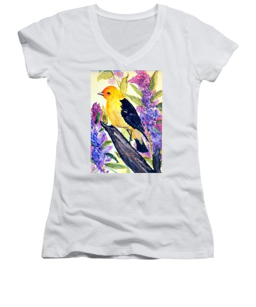 Goldfinch Women's V-Neck T-Shirt
